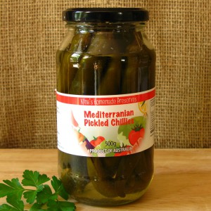 Pickled Chillies Green